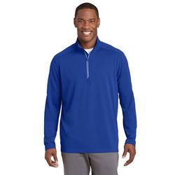 Men's Textured Moisture-Wicking Fleece Quarter-Zip Pullover