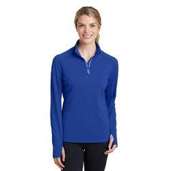 Ladies' Textured Moisture-Wicking Fleece Quarter-Zip Pullover