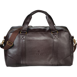 "20"" Faux Leather Weekender Duffel Bag"