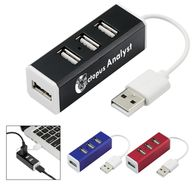 4-Port Aluminum USB Hub - Rectangle