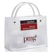 "Frosted Plastic Executote Gift Bag with Outside Business Card  Pocket  (Small, 8"" x 6"") - Foil Imprint"