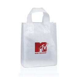 "Frosted Plastic Shopping Bag - 8"" x 10"""