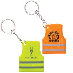 Reflective Safety Vest Keytag