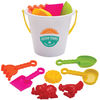Beach Bucket Includes Colorful Tools for Molding Sand