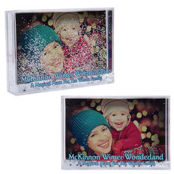 Rectangular Snow Globe Photo Frame