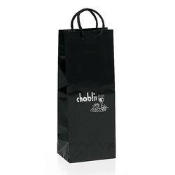 "Glossy Paper Eurotote Bag - 5.25"" x 13"" - Foil Imprint"