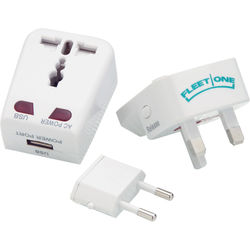 Power Adapter for International Travel with Built-In USB for Charging Digital Devices
