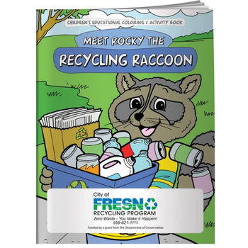 Meet Rocky the Recycling Raccoon Coloring & Activity Book