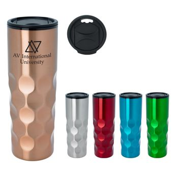 16 oz Stainless Steel Tumbler with Mod Texture with Plastic Liner