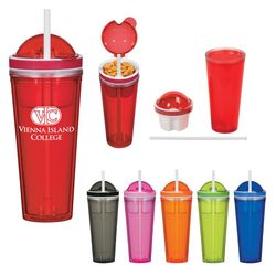 16 oz Tumbler with Snack Compartment