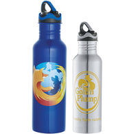26 oz Stainless Steel Bottle with Color Band on Lid