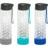 20 oz Glass Bottle with Geometric Cut