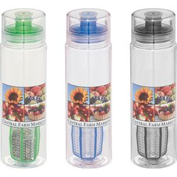 25 oz Fruit Infuser Bottle with Shaker for Blending Protein Powders and Drink Mixes – Dishwasher Safe