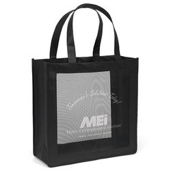 "13"" x 13"" Non-Woven Tote with Mesh Panel and 18"" Handles"