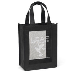"8"" x 10"" Non-Woven Tote with Mesh Panel and 12"" Handles"