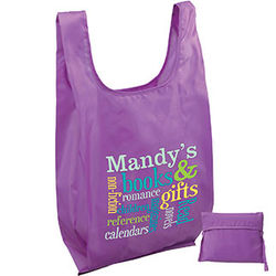 "12"" x 23"" Large Folding T-Shirt Style Bag with Full-Color Printing"