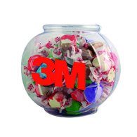 32 oz Plastic Fishbowl Filled With Salt Water Taffy