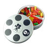 Small Movie Reel Tin Filled with Candy