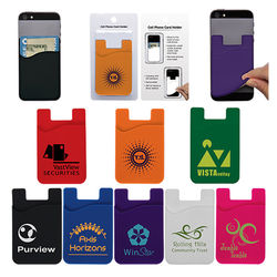 Silicone Phone Wallet Attaches to Your Smart Phone or Case - Includes Retail Packaging