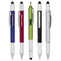 5-in-1 Stylus Pen with Ruler, Level and Screwdrivers (Separate Tips)