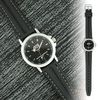Ladies' Casual Watch with Contrast-Stitching on Strap