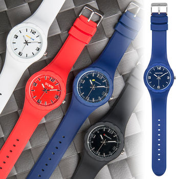 Sporty Unisex Watch with Silicone Strap