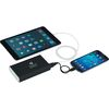 8800 mAh Universal Power Bank Includes Dual Outputs with Cable Storage, Charges Tablets and Phones