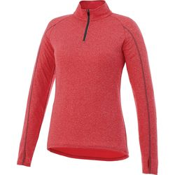 Quick Ship LADIES' Lightweight Quarter-Zip Moisture-Wicking Pullover