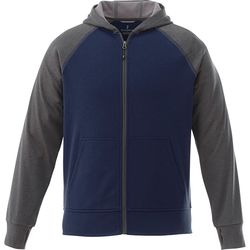 Quick Ship MEN'S Medium Weight Color Block Full Zip Hoodie