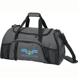"24"" Trendy ""Snow Canvas"" Polyester Duffel Bag"