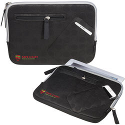 "Tablet Sleeve with Stand - Polyester and Rubber - 10.5"" x 7"""