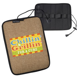 Neoprene Roll-Up Tech Case with Burlap Accents (Ships flat!)