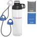 Exercise Kit with Resistance Band, Tissue Packet, and 30 oz Dishwasher-Safe Water Bottle