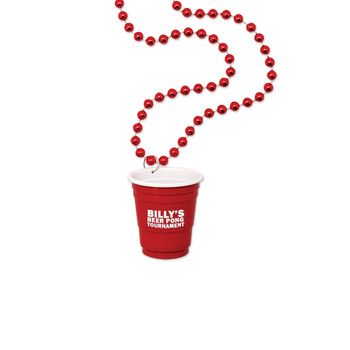 1.25 oz Red Cup Shot Glass on Beads