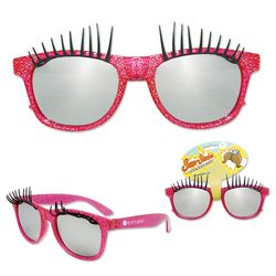 Sun-Stache® with Pink Frame and Eyelashes