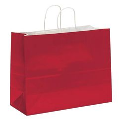 "Glossy Paper Shopping Bag - 16"" x 12"" - Foil Imprint"