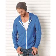 Bella® + Canvas® Adult Triblend Lightweight Hooded Full-Zip T-SHIRT