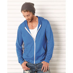 Bella® + Canvas® Unisex Triblend Lightweight Hooded Full-Zip Tee