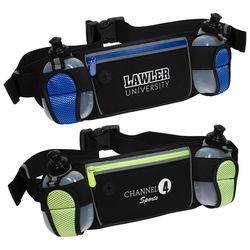 Sports Waist Pack w/Dual Bottles is Perfect for Outdoor Excercise