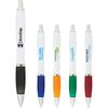 -BASIC-  White Ballpoint Pen with Colored Grip