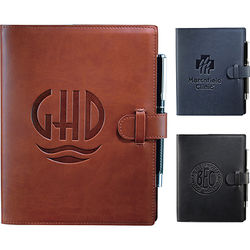 "6.5"" x 8.25"" Bound Refillable Soft Cover Journal with Tab and Loop Closure"
