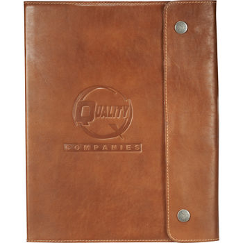 "7.5"" x 9.5"" Leather Refillable Soft Cover Journal"