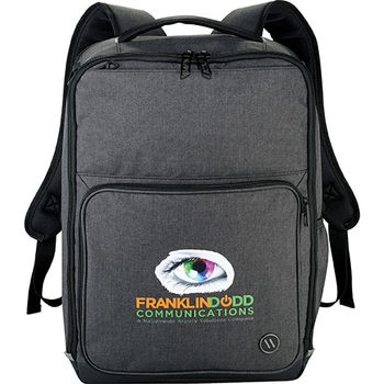 "TSA Compliant Compu-Backpack Holds 15"" Laptops with RFID blocking pocket"