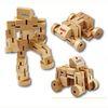 Hardwood Transforming Robot Puzzle