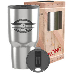 26 oz Vacuum-Insulated Tumbler with Colorful Lid and Retail-Style Gift Box