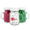 4.5 oz. Glass Mini Mason Jar Filled with Chocolate Buttons in Your Corporate Colors