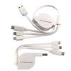 3-in-1 Retractable Noodle Cable with Type C USB and Apple® 8-Pin and Micro USB Tips