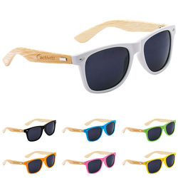 Sunglasses with Wood-Grain-Texture Arms