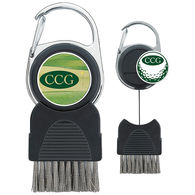 Golf Club Brush with Ball Marker
