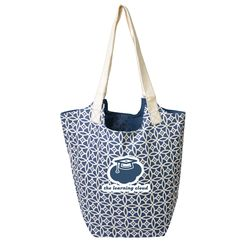 "16"" x 18"" Reversible Hobo Shoulder Tote With Zippered Pocket - Patterns"
